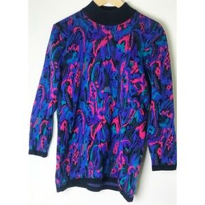 Psychedelic Vintage Funky 80's Long Sweater